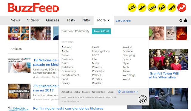 Buzzfeed menues