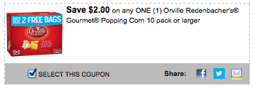 High-Value $2/1 Orville Redenbacher Coupon