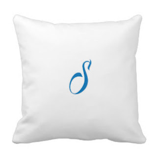 S monogram throw pillow