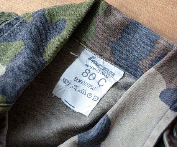 フランス軍CCEカモフラF2迷彩ミリタリーフィールドジャケットXS