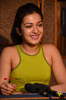 Actress Catherine Tresa Pos during Self Dubbing for Gautham Nanda Movie  0077.JPG