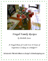 Order our frugal family cookbook and start saving money today!