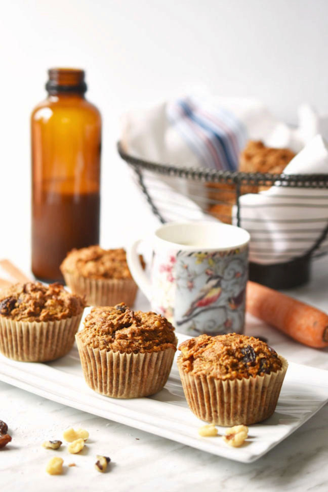 These vegan Morning Glory Muffins are hearty, healthy and filling. Packed with nutritious ingredients like carrots, raisins and coconut. Great for grabbing on the run in the morning.