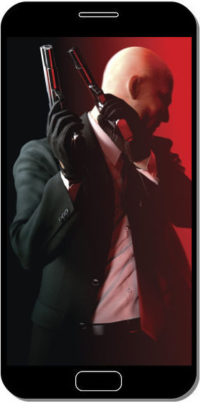 Hitman Pistolets Rouges - Fond d'Écran en FHD pour Mobile