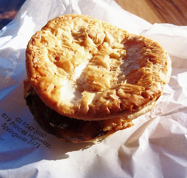 Daniel's Donuts, Springvale, steak and cheese pie