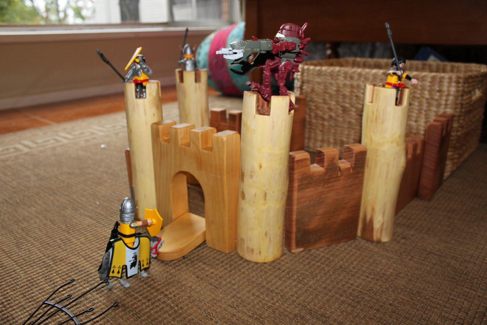 Homemade Happy Wooden Castle