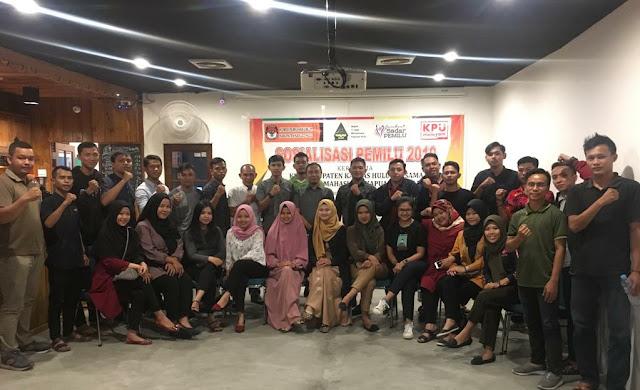 KPU Kapuas Hulu Rangkul IPMKH Pontianak Sosialisasikan Pemilu 2019