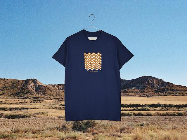 T-shirt Oscillations navy - Surfin Estate
