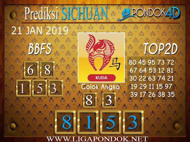 Prediksi Togel SICHUAN PONDOK4D 21 JANUARI 2019