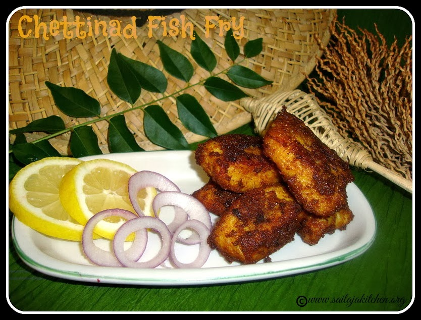 Chettinad Fish Fry recipe. Chettinad Meen Varuval recipe,Masala Fish Fry -Chettinad Style