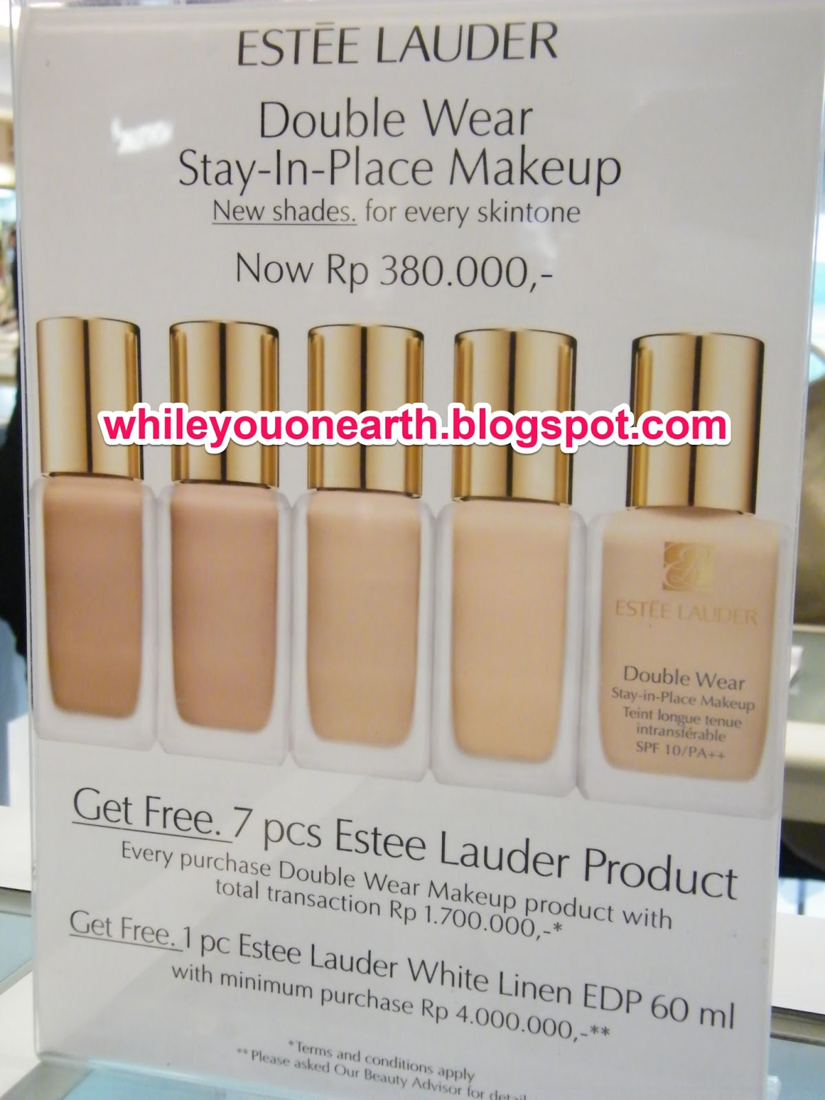 While you on earth..: Estee Lauder Double Wear Stay-in ...