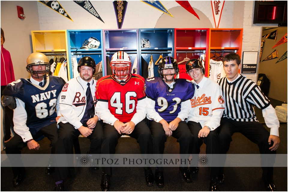 Sports Legends Museum Wedding photos groomsmen