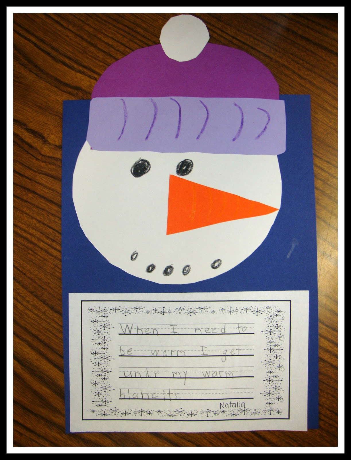 Today In First Grade Snowman Day