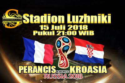 AGEN BOLA ONLINE TERBESAR - PREDIKSI SKOR FINAL PIALA DUNIA 2018 PERANCIS VS KROASIA 15 JULI 2018