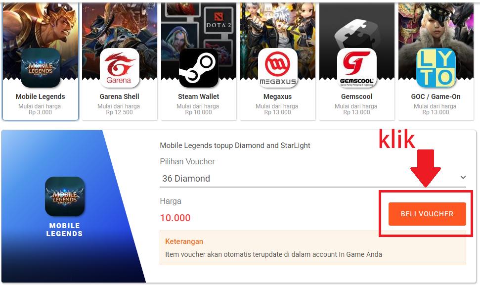 Cara Memebeli Diamond Mobile Legends Menggunakan Pulsa Telkomsel