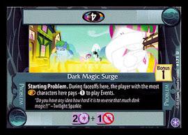 My Little Pony Dark Magic Surge The Crystal Games CCG Card
