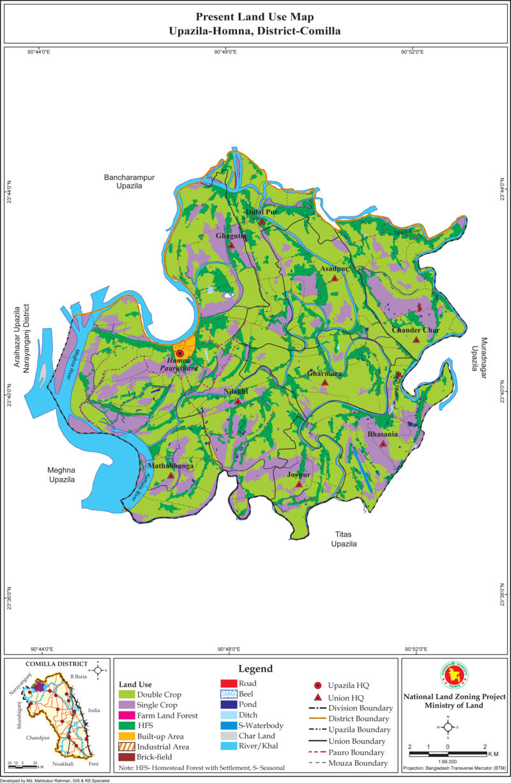 Homna Upazila Mouza Map Comilla District Bangladesh