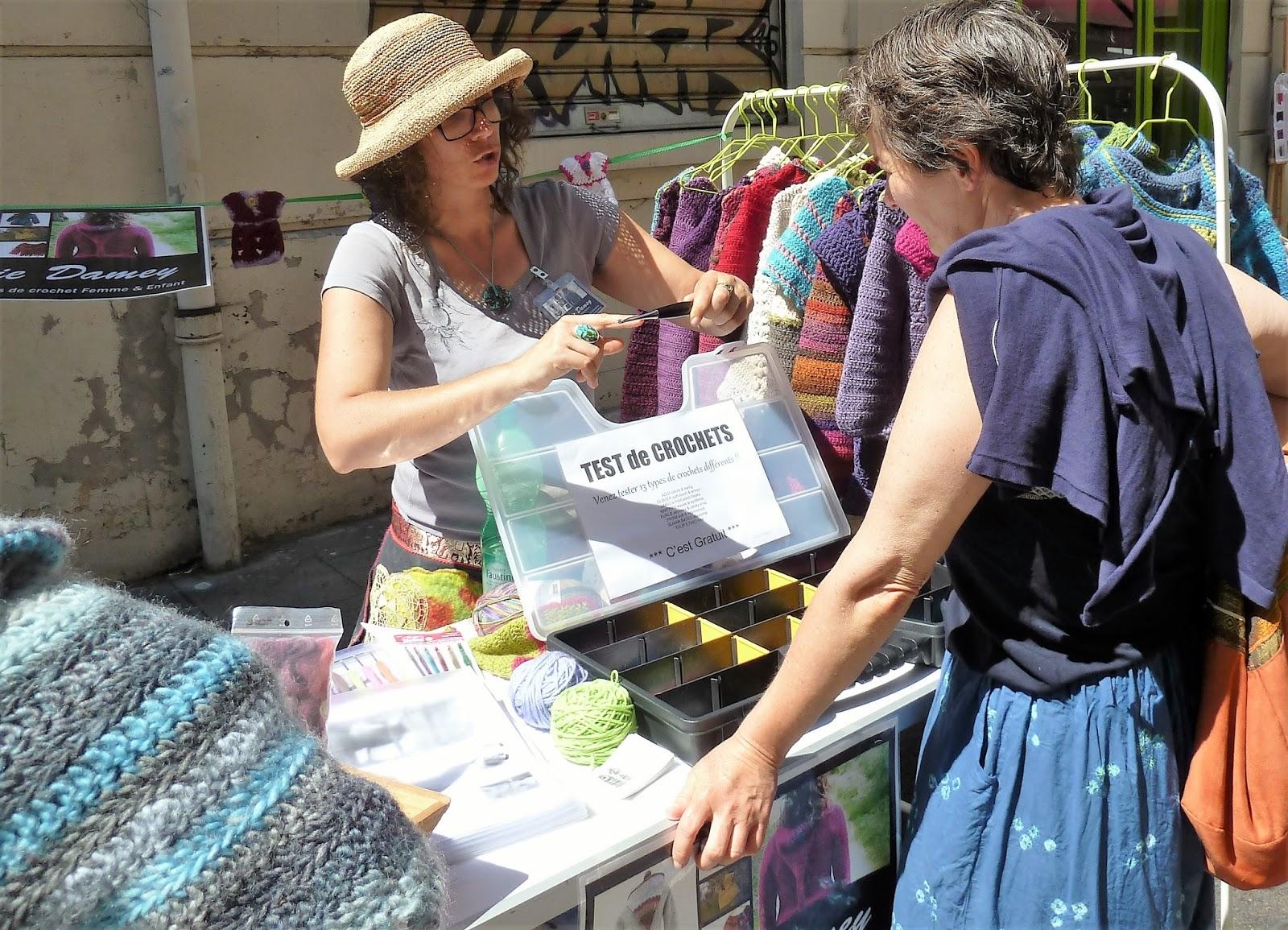 sylvie damey patrons de crochet et ateliers en vercors expo test de crochets et puces de