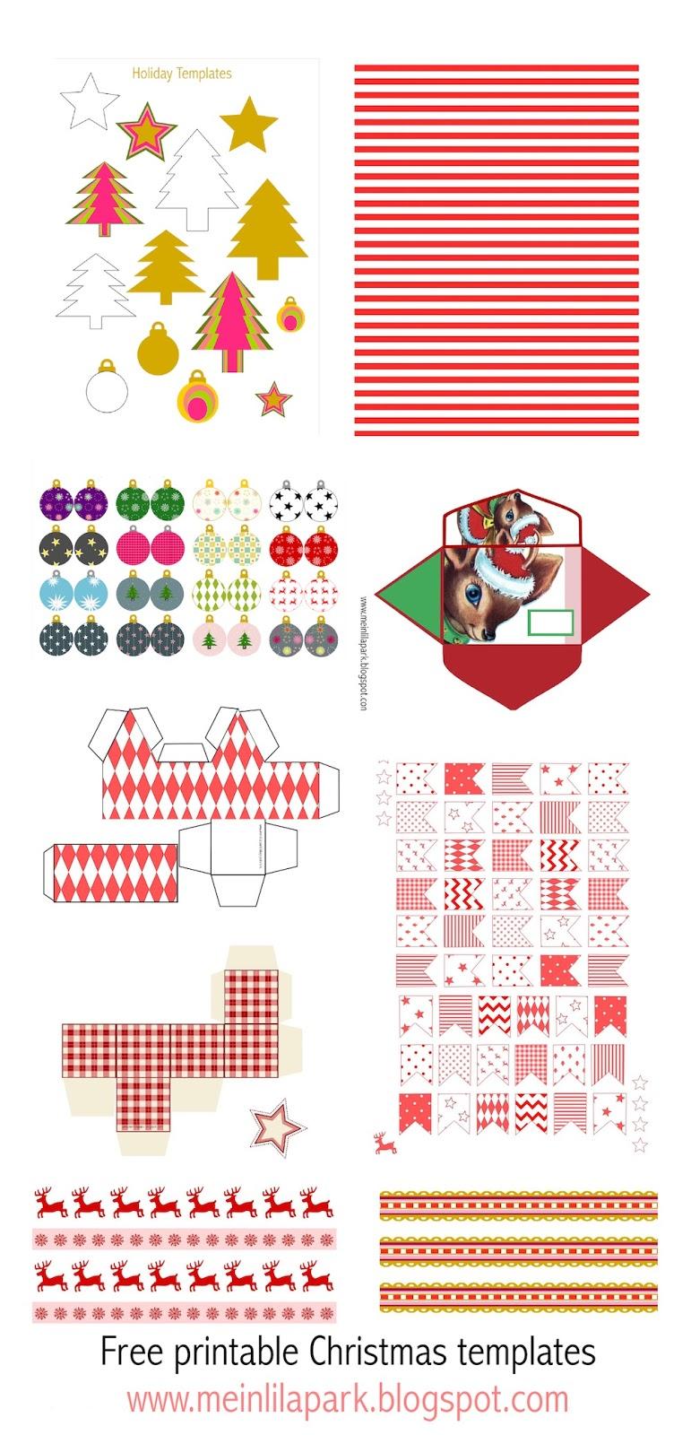 Free printable Christmas templates - Weihnachten DIY ...