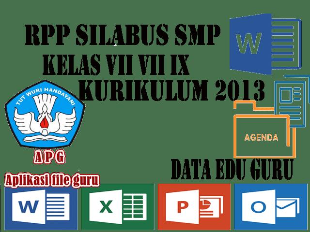RPP Silabus SMP Kelas VII VIII IX Mapel Bahasa Indonesia dan Prakarya Kurikulum 2013