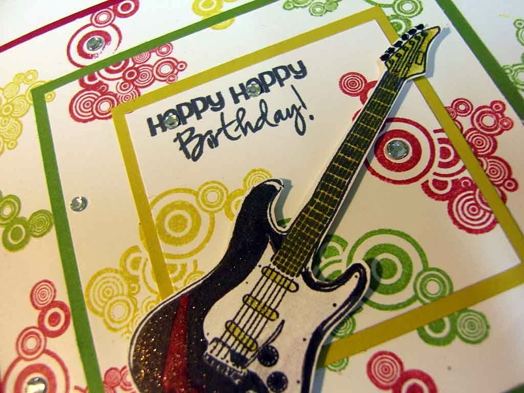 Birthday Card With Guitar