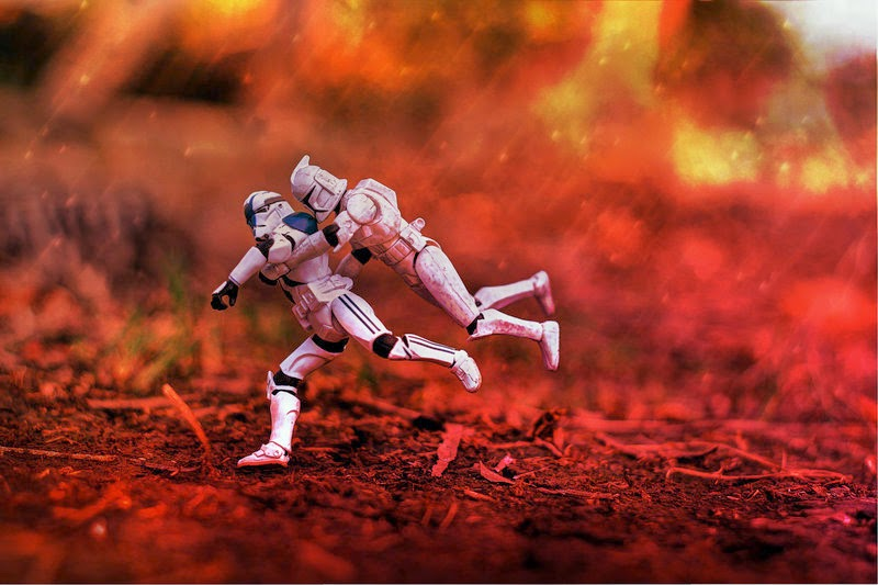 Stormtrooper Star Wars toys photographs