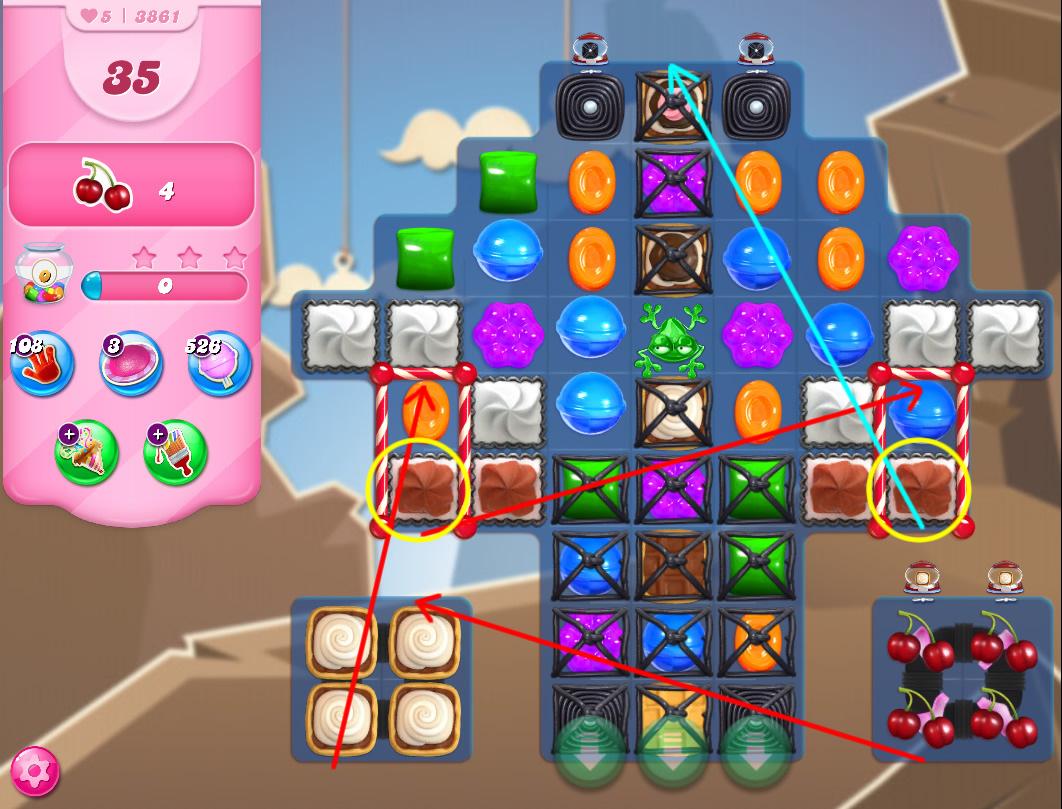 Candy Crush Saga level 3861