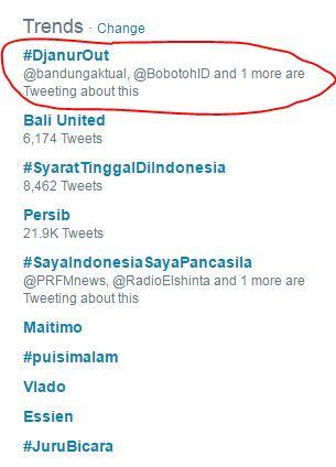 Tagar #DjanurOut Jadi Trending Usai Persib Kalah di Bali