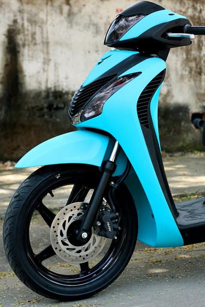 Sơn xe Honda Sh màu xanh nhám