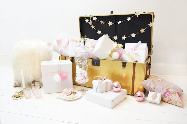 Pastel Christmas trunk styling