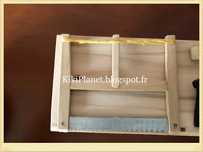 Outils de menuiserie faits main pour Kiki ou Monchhichi, miniature, rabot, scie à corde, marteau, établi