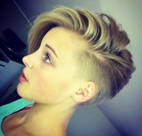 Undercut women s short haircut