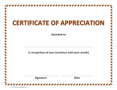 Certificate Of Recognition Template Free Kllli