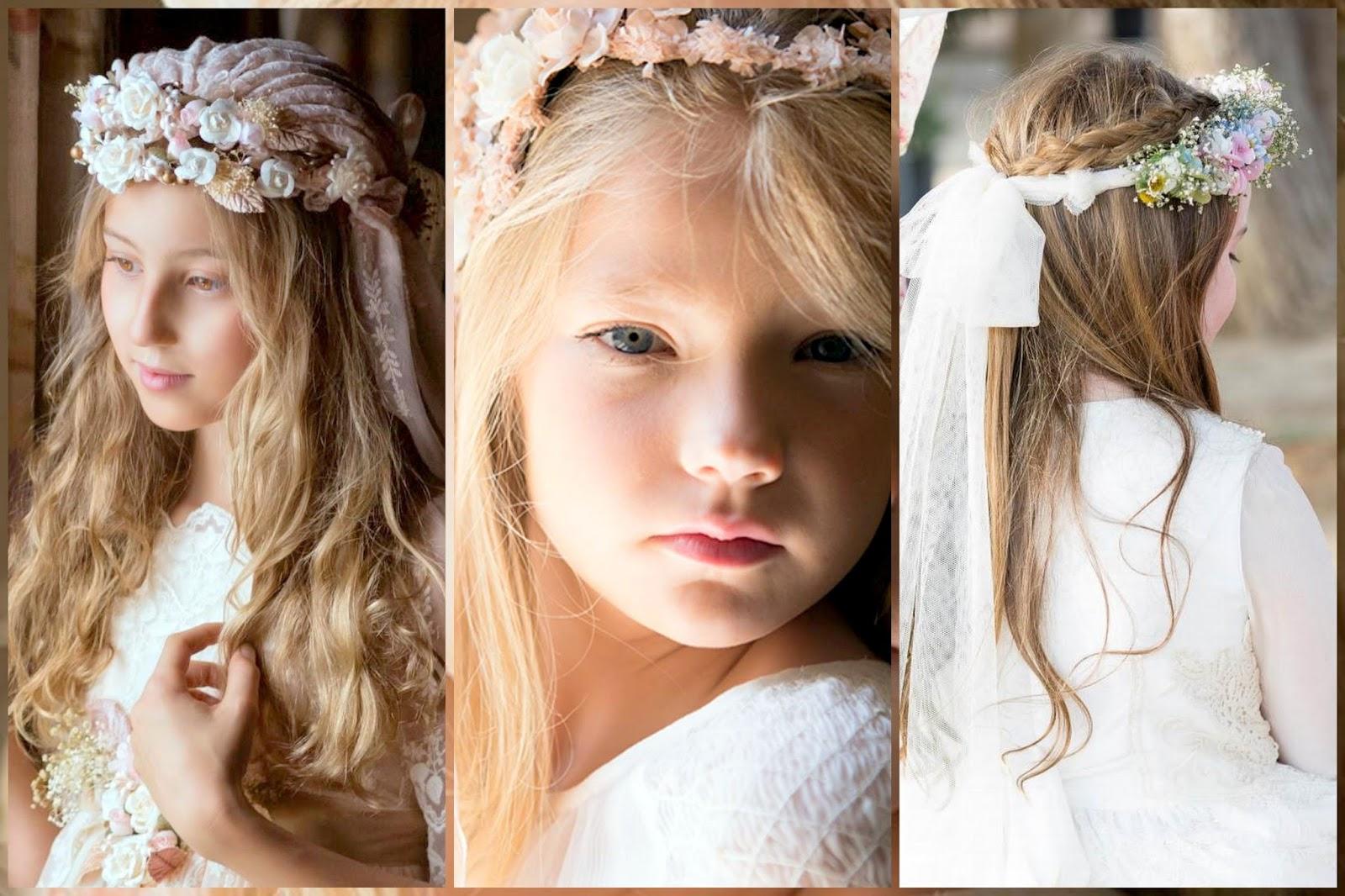 Peinados de comunion para nina media melena