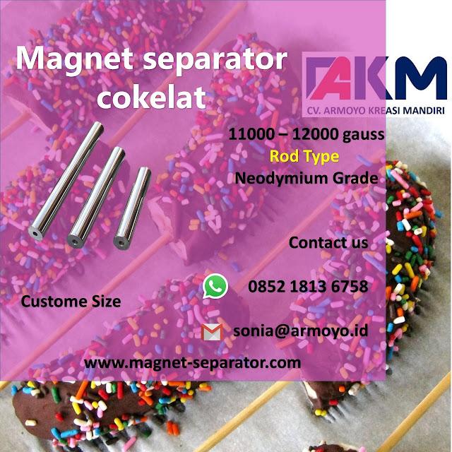 magnet separator cokelat