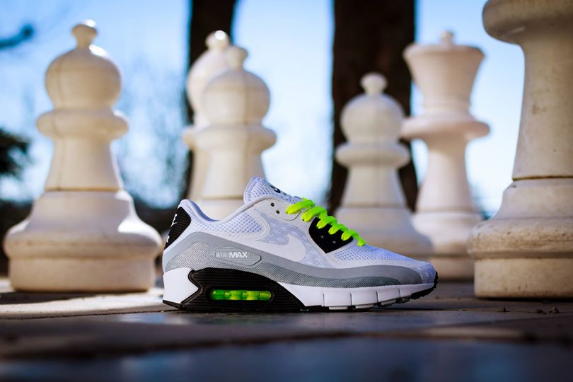Nike Air Max 90 Breathe White Volt Detailed Pictures