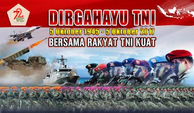 Kumpulan Gambar Ucapan Untuk Memperingati HUT TNI ke-72