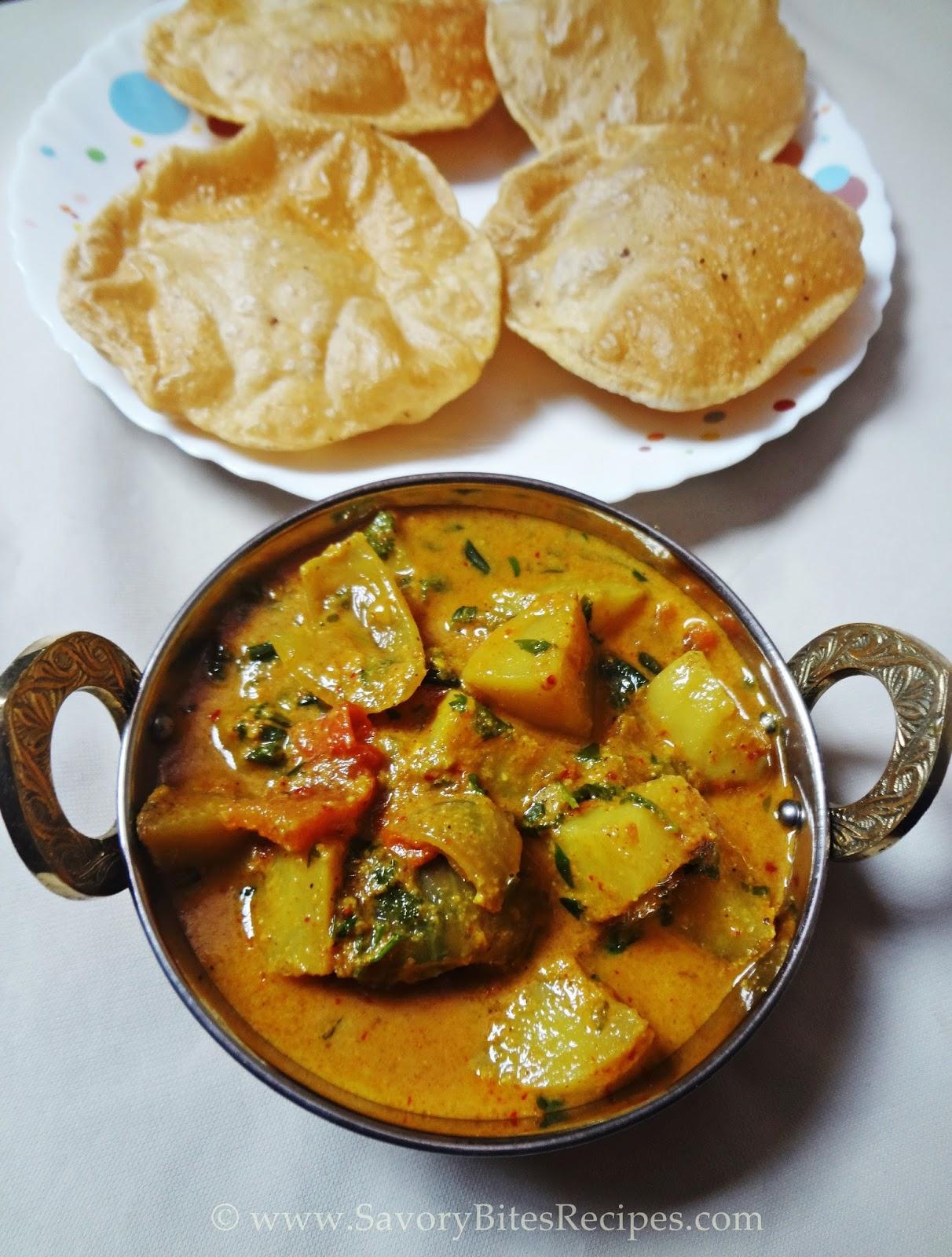 Aloo Methi Masala Potato Gravy Indian