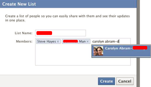 Facebook Create List Of Friends