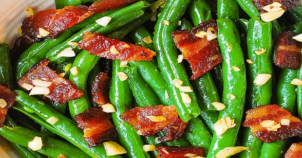 Garlic And Bacon Green Beans Recipe