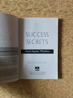 Success Secrets: Surat Kepada Matthew