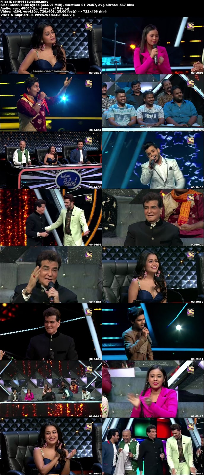 Indian Idol Season 10 10 November 2018 HDTV 480p 300Mb  world4ufree.vip tv show Indian Idol Season 10 hindi tv show Indian Idol Season 10  Sony Set  tv show compressed small size free download or watch online at world4ufree.vip