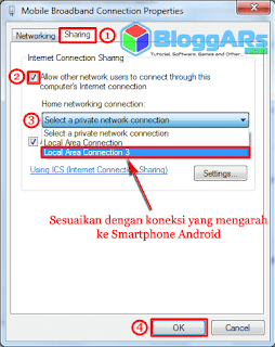 Berbagi Koneksi Internet PC/Laptop ke Android