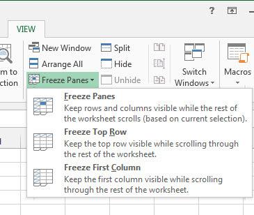 Melakukan Freeze Row atau Column di Excel