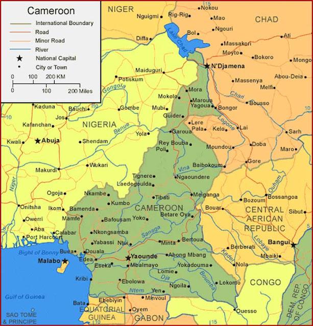 Gambar Peta Kamerun