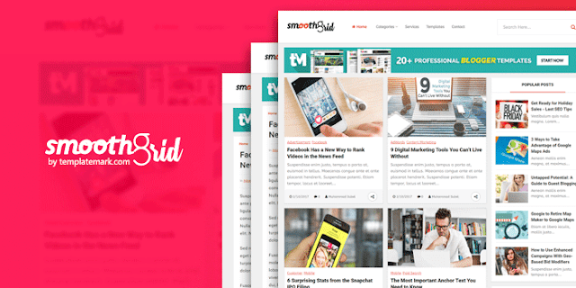 Smotth Grid шаблон для блоггер