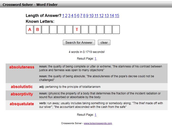 Crossword Solver Free Crossword Puzzles Word Finder Bols