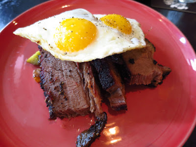 Meatsmith, brisket and eggs