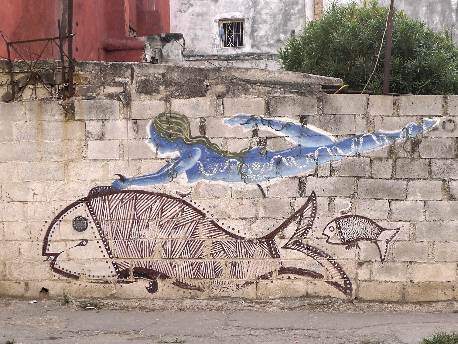 Centro Habana Graffito Göttin des Meeres