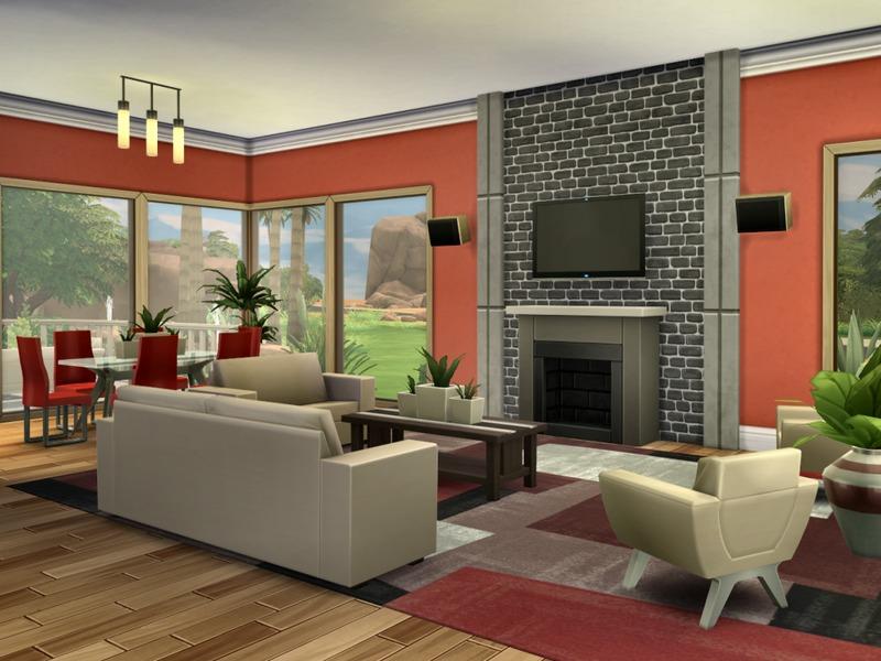 modern oasis home  sims 4 houses